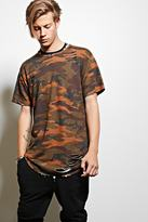 Forever 21 FOREVER 21+ EPTM. Distressed Camo Print Tee