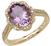 Lord & Taylor Amethyst and Diamond 14K Yellow Gold Ring