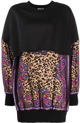 Versace Jeans Couture Oversized Leopard Print Blouse