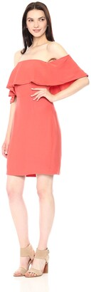 Cupcakes And Cashmere Women's Rudy Crepe Off The Shoulder Dress