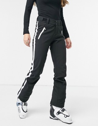 Protest Stripe ski pant in black