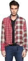 Diesel Patchwork Cotton & Viscose Flannel Shirt