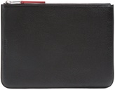 Neil Barrett Grained-leather pouch