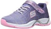 Skechers Girls' HI Glitz Low-Top Sneakers Purple, 2 Child UK (35 EU)