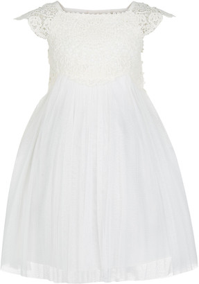 Under Armour Baby Estella Lace Bodice Occasion Dress Ivory
