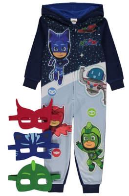 George PJ Masks Blue Hooded Onesie and Masks
