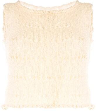 Voz Knitted Crop Top