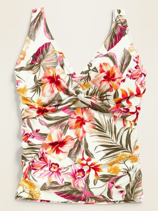 Old Navy Floral Twist-Front Underwire Plus-Size Tankini Swim Top