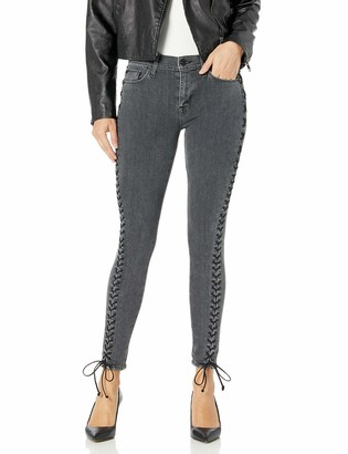 Hudson Women's The Stevie Midrise Cont Lace Up Skinny 5 Pocket Jean