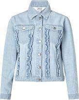 Miss Selfridge Ruffle Denim Jacket