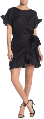 ASTR the Label Ruffle Waist Tie Dress