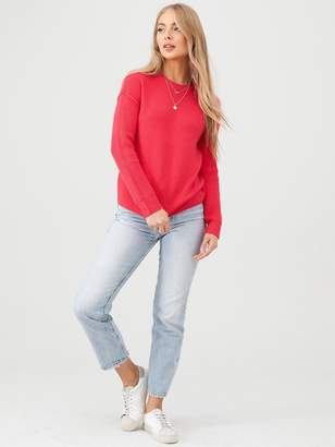 Very Rib Sleeve Jumper - Hot Pink