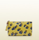 Gucci Heartbeat Print Leather Pouch