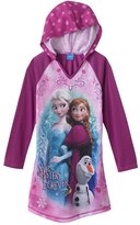 """Disney Frozen """"Sisters Forever"""" Hooded Nightgown - Girls 4-6x (S 6/6x)"""