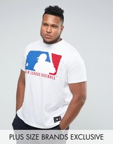 Majestic Plus Mlb Shield Logo T-shirt In White