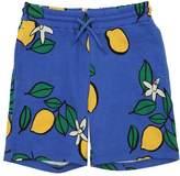 Mini Rodini Lemon Organic Cotton Blend Sweat Shorts