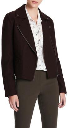 Marcs Poppy Felted Wool Biker Jacket