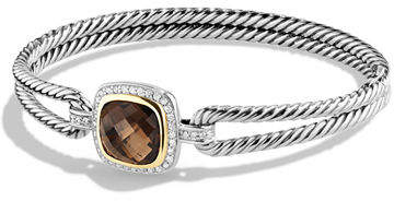 David Yurman Albion Bracelet with Diamonds and 18k Gold