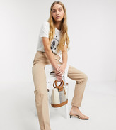 Asos Tall DESIGN Tall chino pants in stone