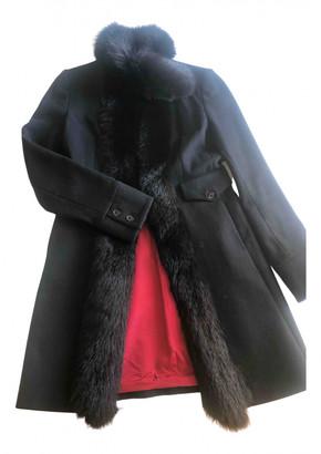 Flavio Castellani Black Wool Coats