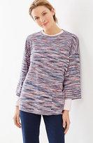 J. Jill Pure Jill Blurred-Stripe Pullover