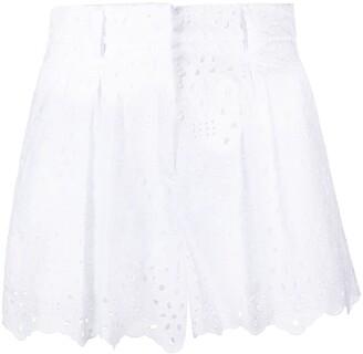 VIVETTA Scalloped-Hem Cotton Shorts