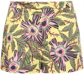 RED Valentino Floral-print Stretch-cotton Shorts