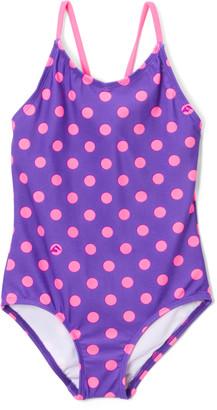 Kanu Surf Girls' One Piece Swimsuits Purple - Purple Suzie One-Piece - Toddler