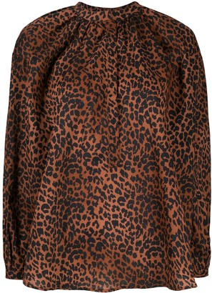 LOVE Stories Mila leopard-print shirt