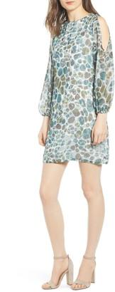Sentimental NY Cold Shoulder Shift Dress