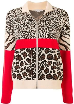 Stella McCartney Multi-Animal Print Bomber Jacket