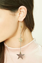 Forever 21 FOREVER 21+ Star Drop Chain Earrings