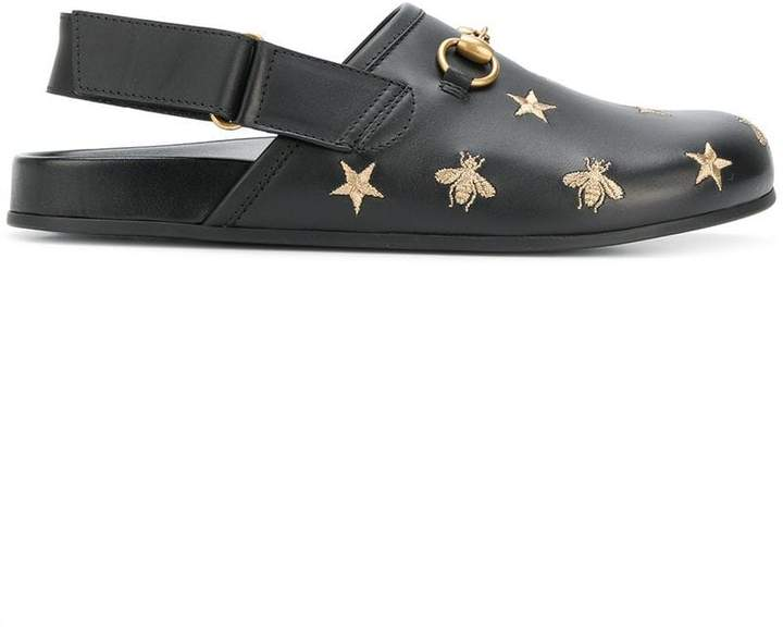 Gucci Horsebit embroidered sandals
