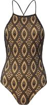 Nightcap Clothing Open Back Lace Bodysuit