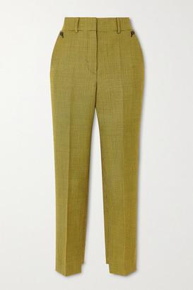 Petar Petrov Hernan Houndstooth Wool And Mohair-blend Tapered Pants