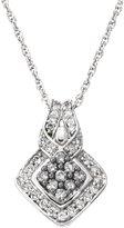 AX Jewelry Silvermist 1/2ct TDW and White Diamond Pendant