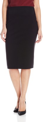 Lark & Ro Amazon Brand Women's High Waist Double Knit Ponte Stretch Pencil Skirt