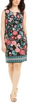 JM Collection Petite Printed Sheath Dress, Created For Macy's