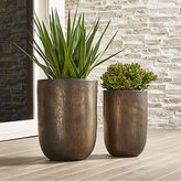 Crate & Barrel Metallic Bronze Planters