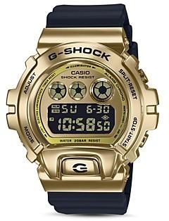 G-Shock Gold-Tone Digital Watch, 49.7mm x 53.9mm