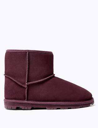 Marks and Spencer Suede Cleated Sole Slipper Boots