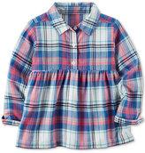 Carter's Babydoll Plaid Shirt, Toddler Girls (2T-4T)