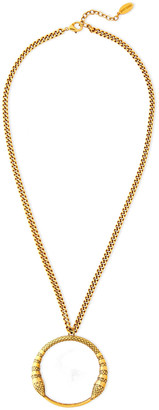 Roberto Cavalli Burnished Gold-tone Necklace