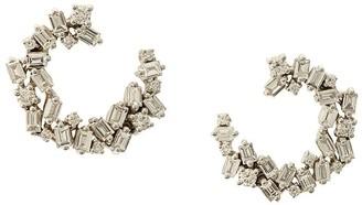 Suzanne Kalan 18kt white gold diamond Fireworks spiral earrings