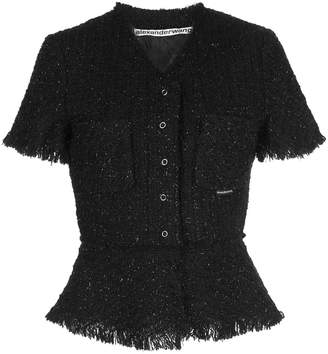 Alexander Wang tweed buttoned top