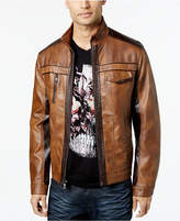 INC International Concepts I.n.c. Men's Jones Two-Tone Faux-Leather Jacket, Created for Macy's