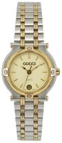 Gucci 9000L Stainless Steel & Gold Plated with Ivory Dial 25mm Womens Watch