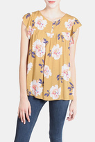 Final Touch Mustard Floral Blouse
