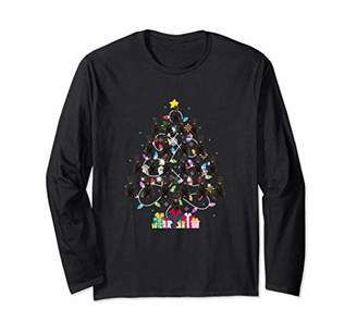 Giant Schnauzer Christmas Tree Lights Dad Mom Dog Long Sleeve T-Shirt