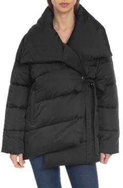 AVEC LES FILLES Wrap Puffer Coat